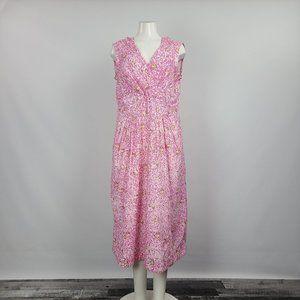 April Cornell Pink & Yellow Flower Dress Size M